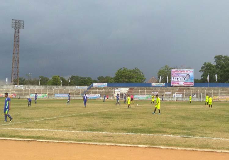 Final Sepak Bola Porprov, Lamtim Unggul Sementara atas Lampura