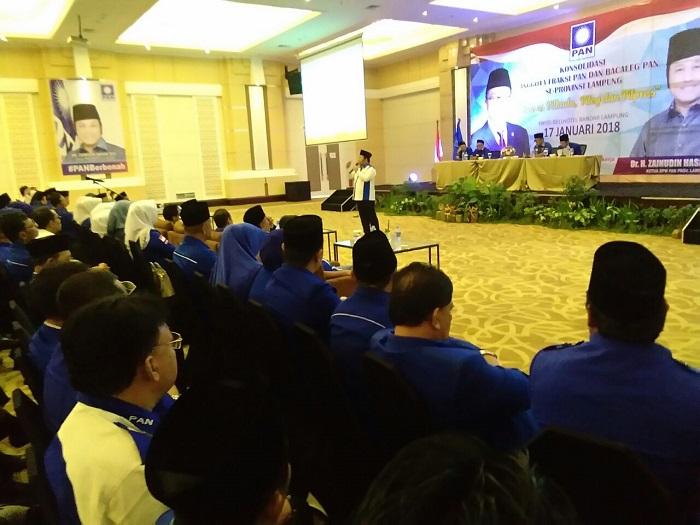 LAMPUNG POST | DPW PAN Lampung Gelar Rakornis Konsolidasi