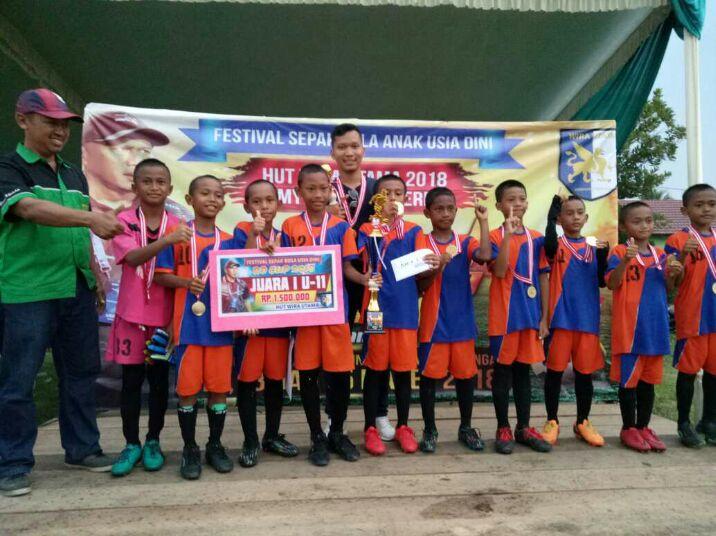 SSB Wira Utama Lampung Tengah Juara U-11 Piala Rahmad Darmawan