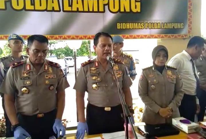 LAMPUNG POST | Kapolda Lampung Klaim Angka Kriminalitas Menurun