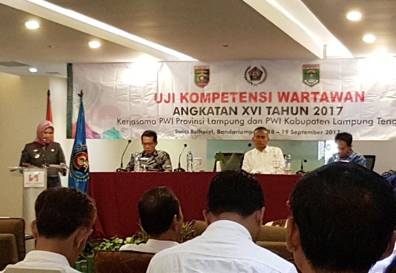 LAMPUNG POST | Tingkatkan Kompetensi, 60 Wartawan Lampung Ikuti UKW