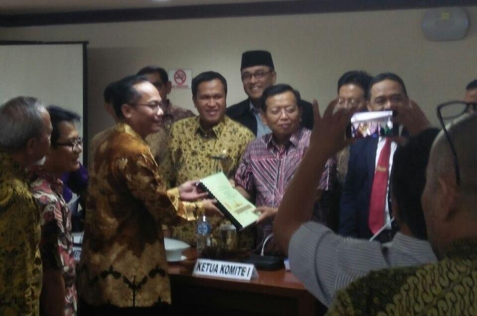 LAMPUNG POST   Draf Usulan Lampung Jadi Alternatif Ibukota Pemerintahan RI Diserahkan