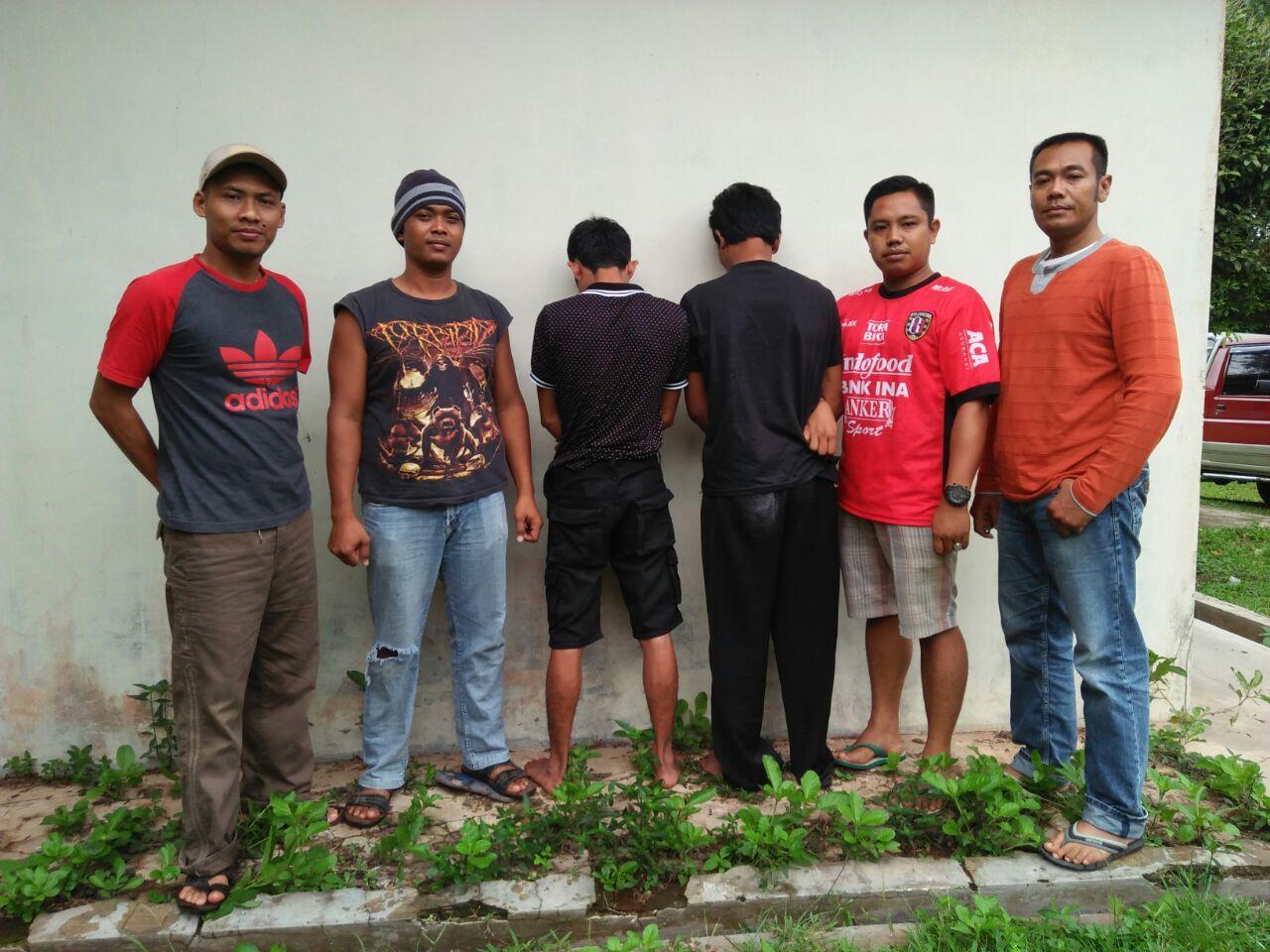 Dua Pelaku Pencurian Ditangkap Tekab 308 Polsek Sekampungudik