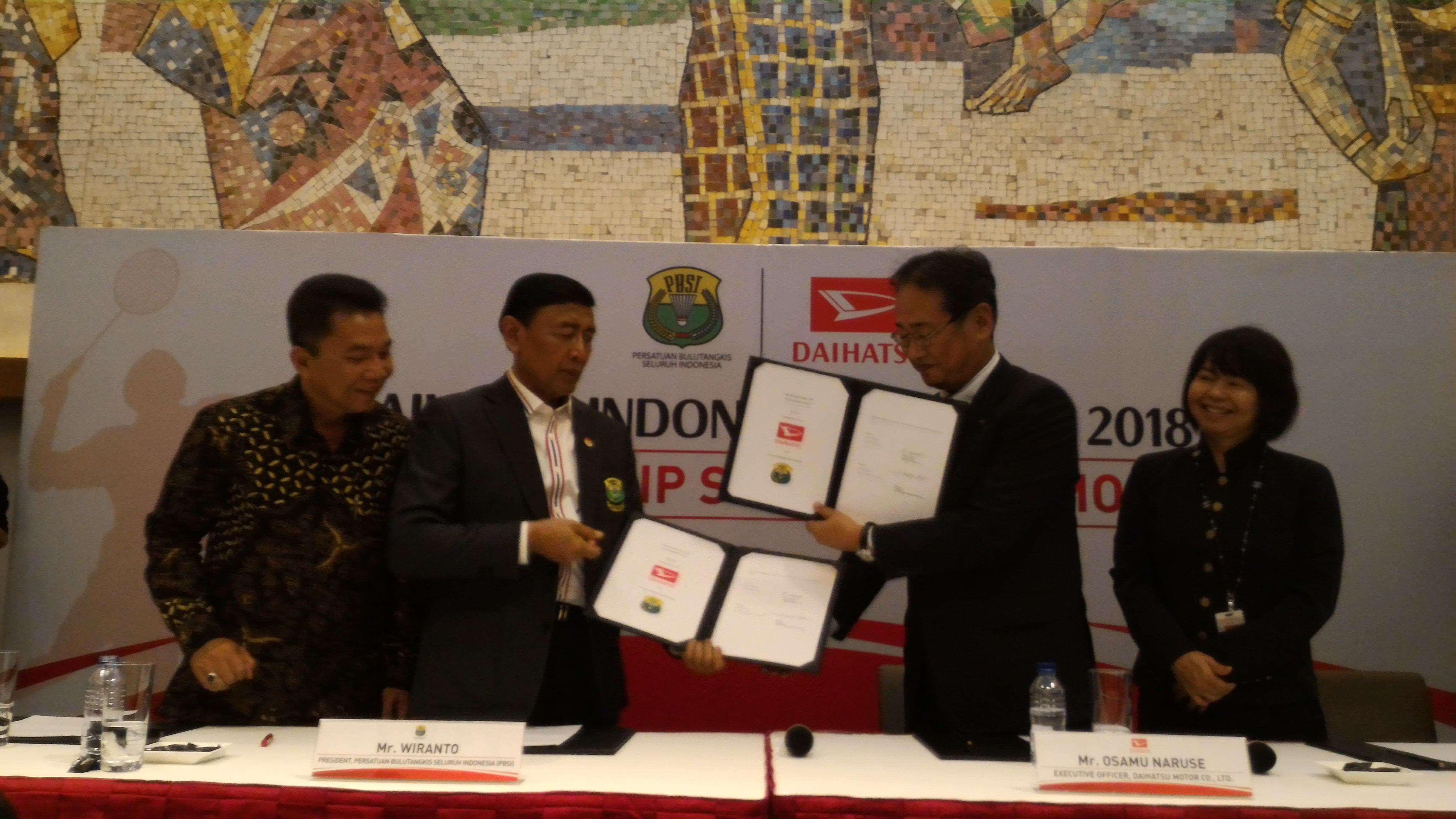 LAMPUNG POST   Daihatsu Umumkan Sponsor Tunggal Daihatsu Indonesia Master 2018