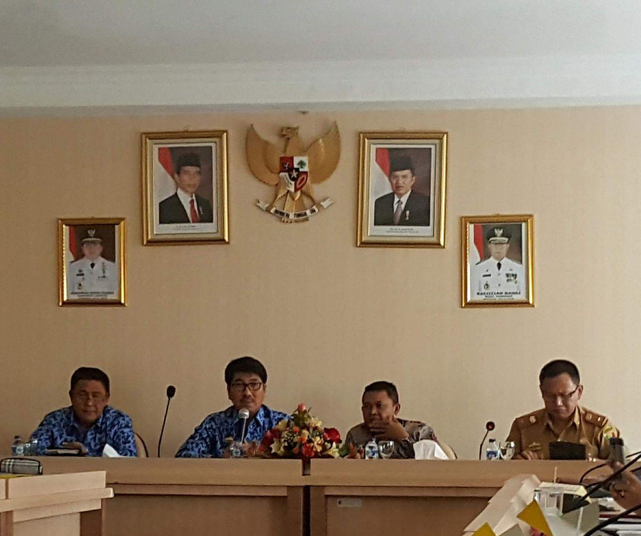 TPAD dan Banag DPRD Tanggamus Rapat Evaluasi APBD 2018 di Pemprov