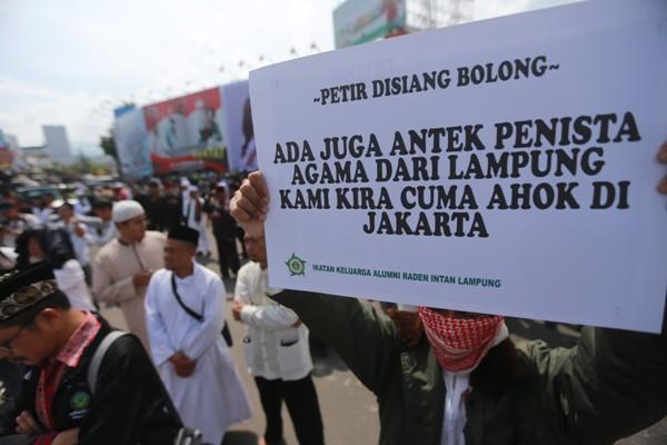 Ormas Islam Lampung dan Ikaril Demo Antek Penista Agama