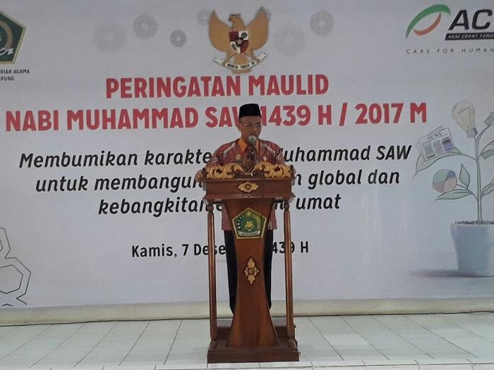 LAMPUNG POST | Kemenag Lampung Peringati Maulid Nabi Muhammad SAW
