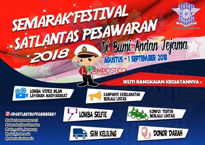 Semarak Festival Satlantas Pesawaran 2018