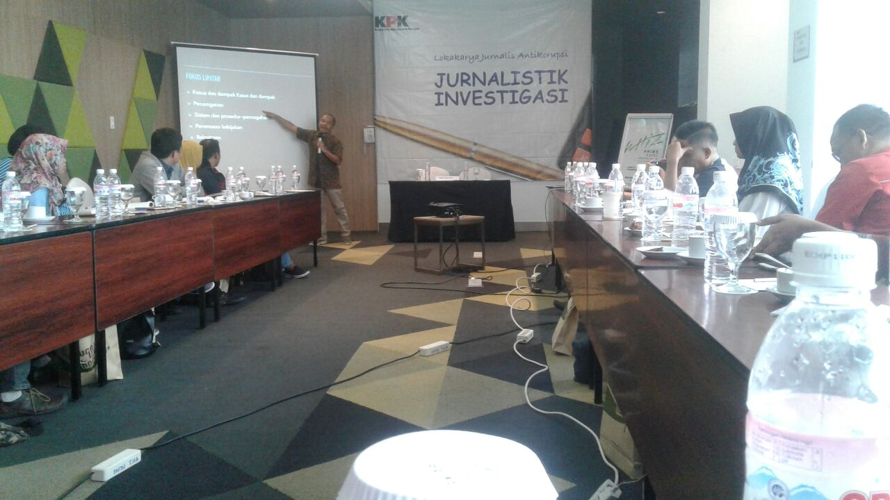 LAMPUNG POST | Lokakarya KPK Ajarkan Jurnalistik Antikorupsi