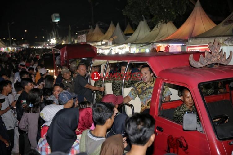 Sukses Raup Transaksi Rp18,7 Miliar, Gubernur Tutup Lampung Fair 2018