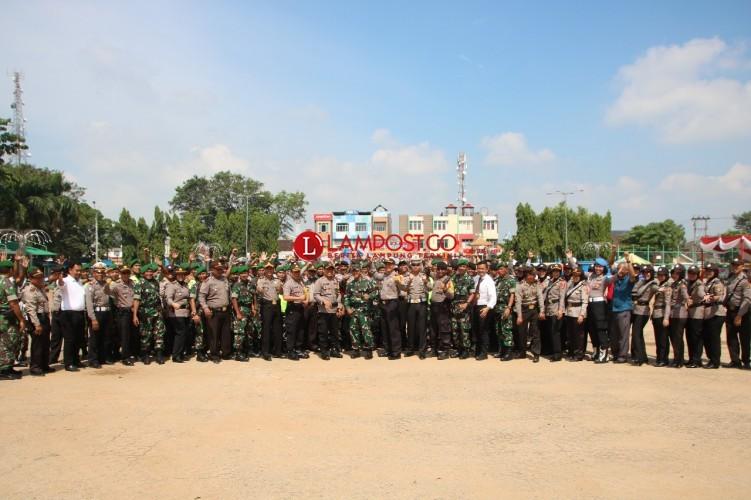 Personel Gabungan TNI-Polri Siap Amankan 465 TPS di Metro