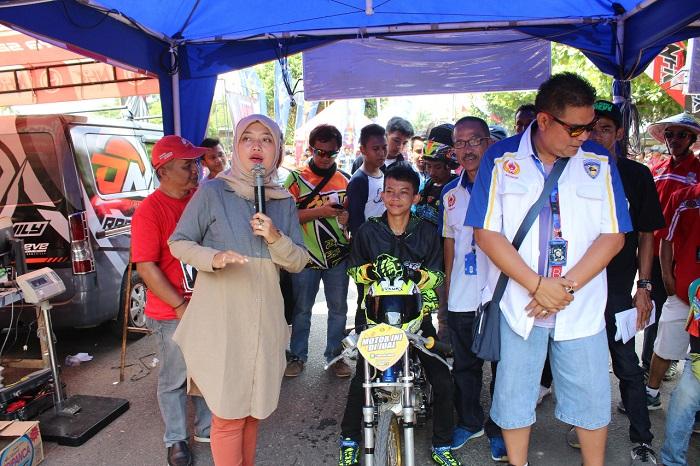 LAMPUNG POST   Bupati Dukung Agenda Drag Bike Lampung Speed 2017