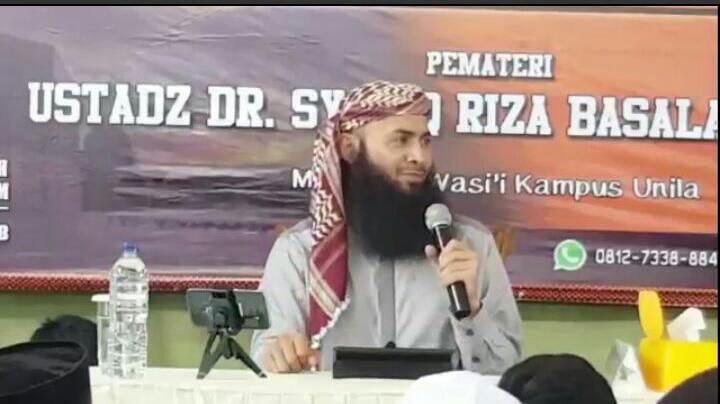 Ribuan Jemaah Ikuti Kajian di Masjid Al Wasi'i Unila