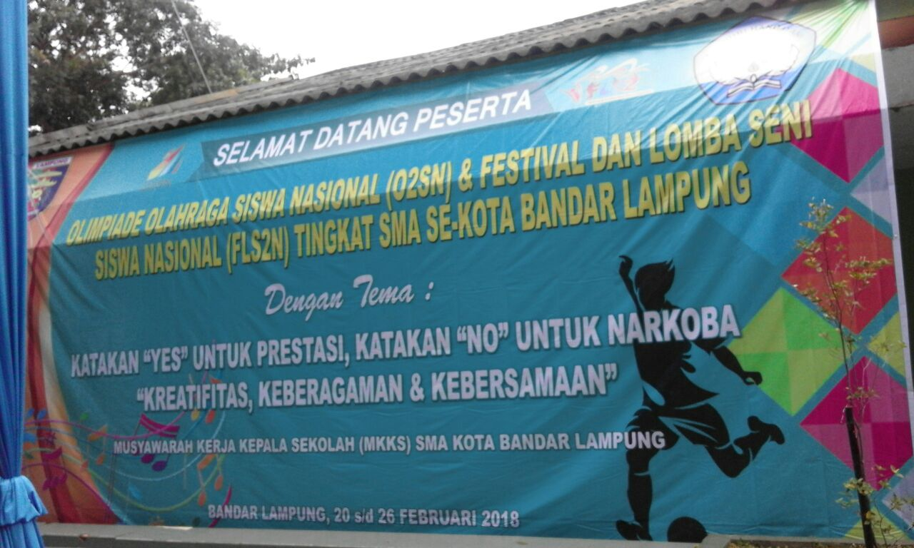 LAMPUNG POST | 600 Pelajar SMA Ikut FLS2N dan O2SN Tingkat Bandar Lampung