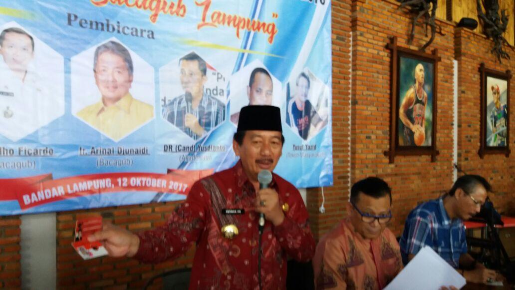 LAMPUNG POST | Herman Siap Gadaikan Harta Benda Buat Maju Pilgub Lampung