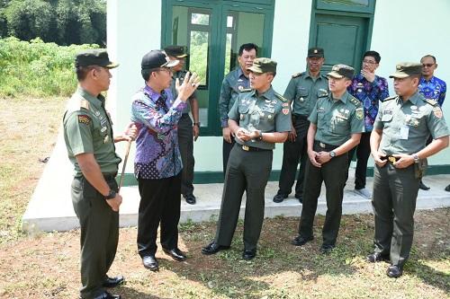Tim Dari Mabes TNI AD Tinjau Lokasi Makodim Lampung Timur