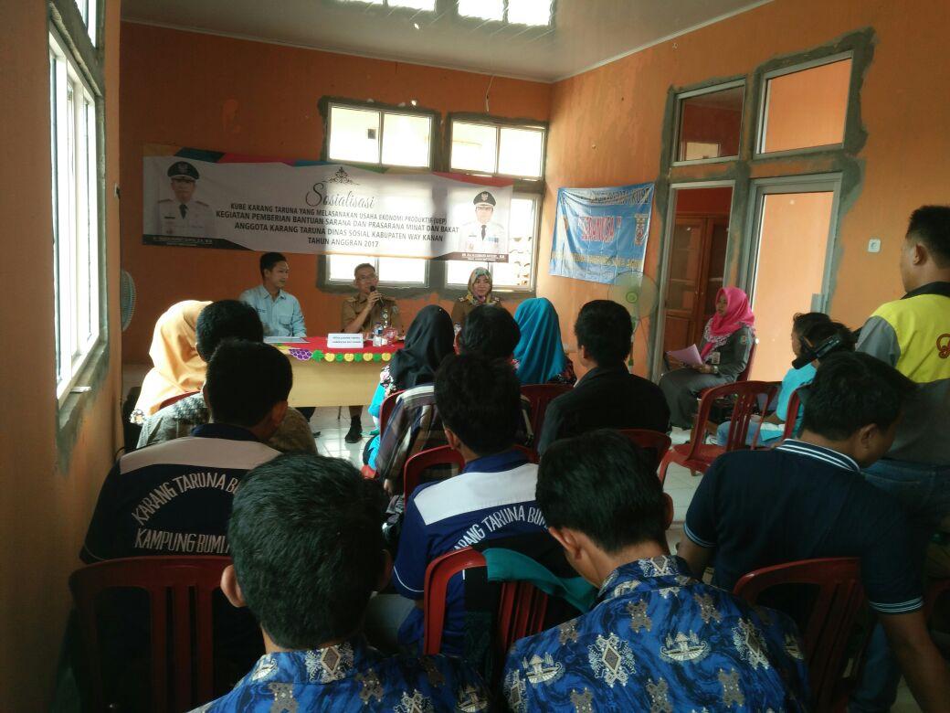 LAMPUNG POST | Dinsos Way Kanan Sosialisasikan Bantuan KUBE