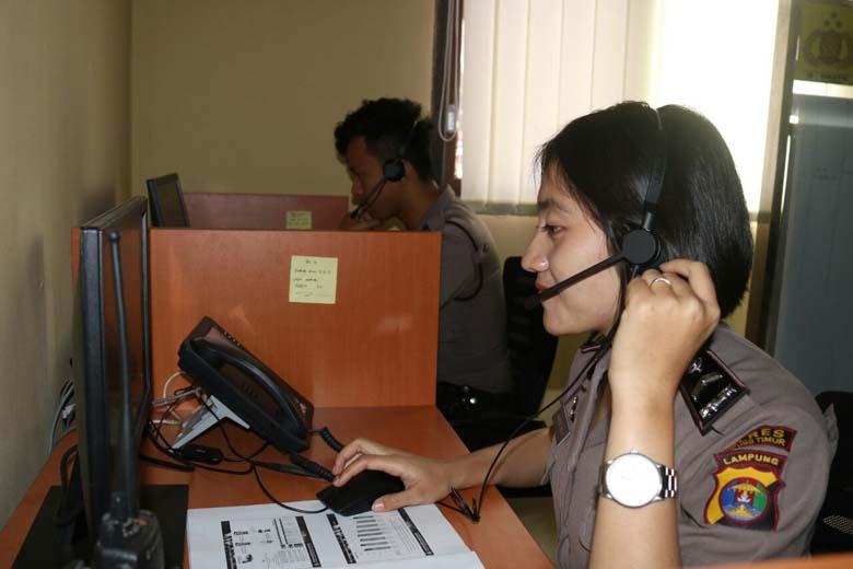 LAMPUNG POST | Polres Lamtim Luncurkan Layanan Call Center 110