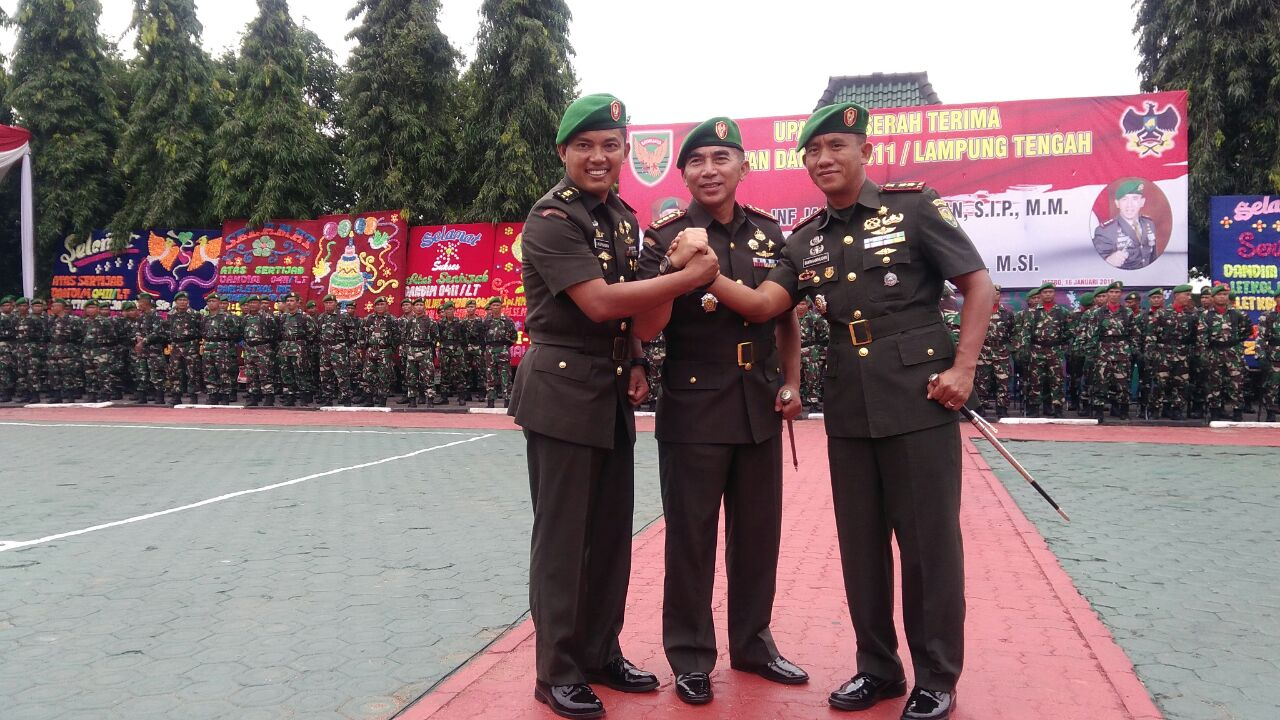 Jabatan Kodim 0411/Lampung Tengah Diserahterimakan