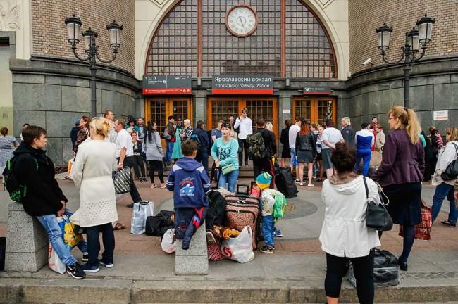 LAMPUNG POST | Isu Bom Hebohkan Rusia, Puluhan Ribu Warga Dievakuasi