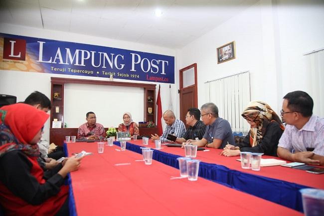 Perkuat Sinergi, PLN Kunjungi Lampung Post