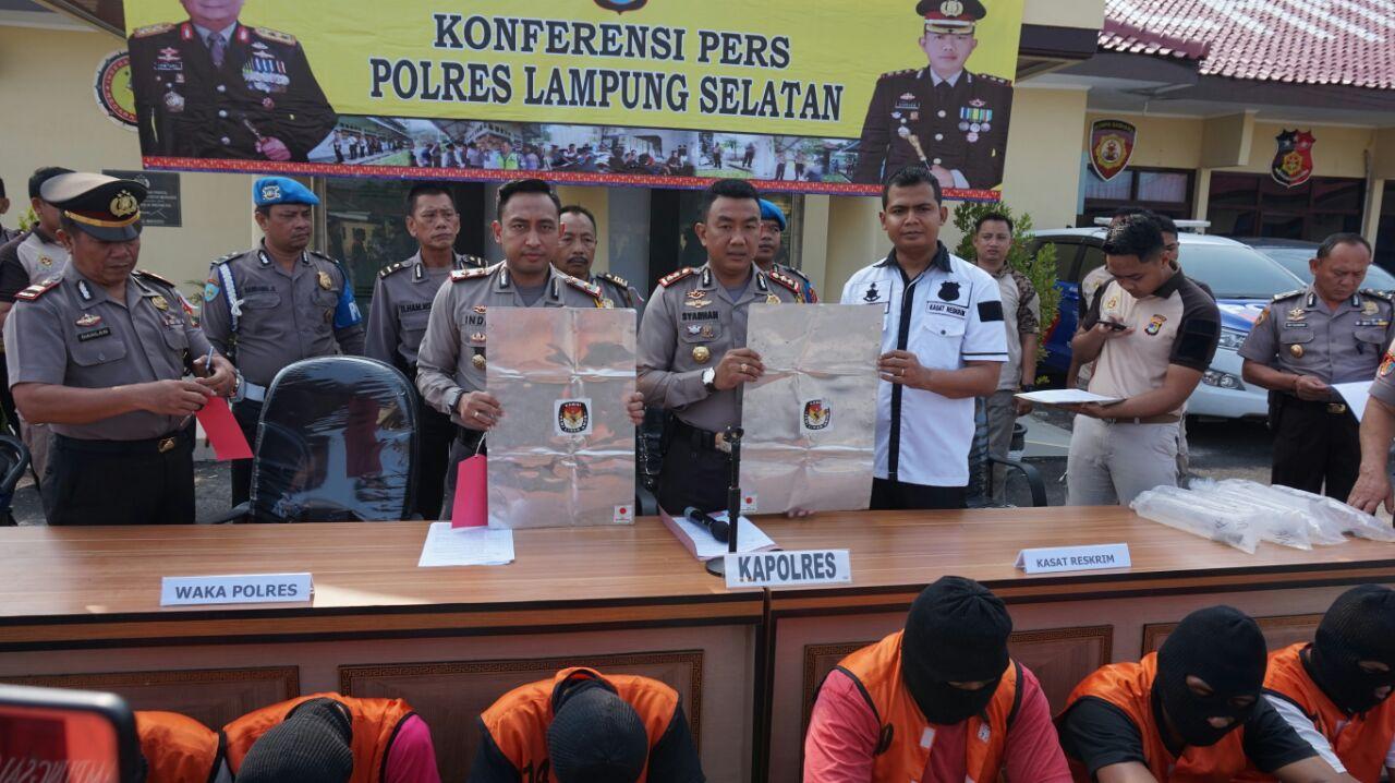Polres Lampung Selatan Bekuk Komplotan Pencuri Bilik Suara Pemilu