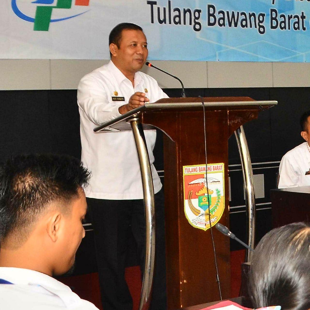Bupati Umar Ahmad  Menunjuk Agus Subagio Plt. Inspektorat Tubaba