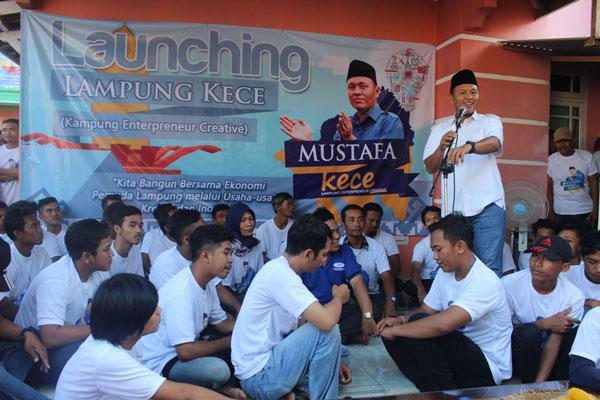 LAMPUNG POST | Launching Lampung Kece, Mustafa Gelorakan Semangat Pemuda Berwirausaha