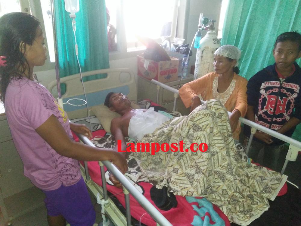 LAMPUNG POST | Ditembak Begal, Sukiman Dirawat di Rumah Sakit