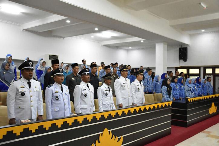 LAMPUNG POST   Djohan Pimpin Sertijab Camat dan Lurah Kota Metro