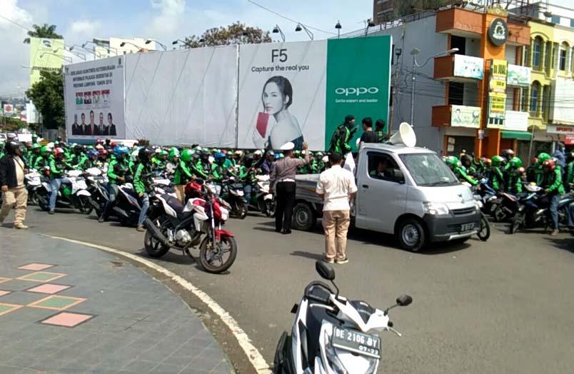 LAMPUNG POST | Ini 8 Tuntutan Driver Grab Lampung