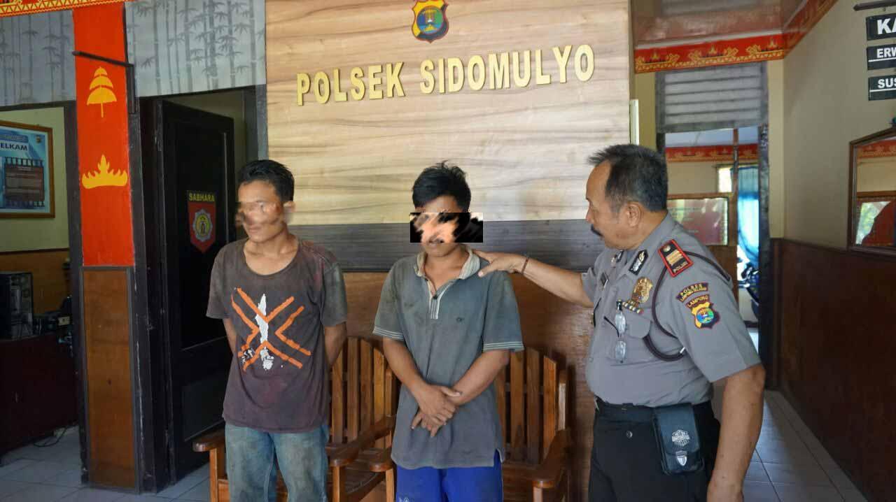 LAMPUNG POST | Curi Kabel, Dua Pemuda Suak Diciduk