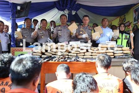 LAMPUNG POST | Polda Waspadai Peredaran Narkoba Selama Arus Balik