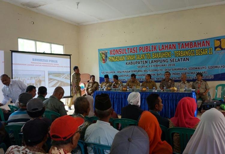 Tol Lampung Butuh 65 Hektare Lahan Tambahan
