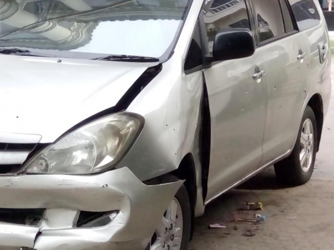 LAMPUNG POST | 24 Peluru Bersarang di Mobil Penyelundup Narkoba 1 Ton
