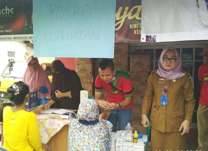 Kecamatan Teluk Pandan Buka Posko Kesehatan di Lokasi Banjir