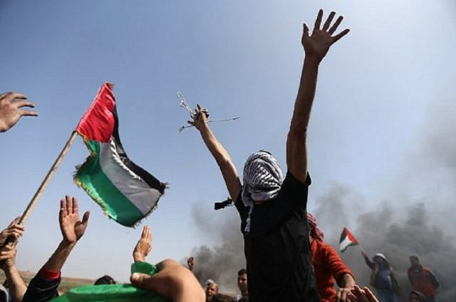 LAMPUNG POST | 27 Warga Palestina Tewas dalam Bentrokan di Perbatasan Gaza