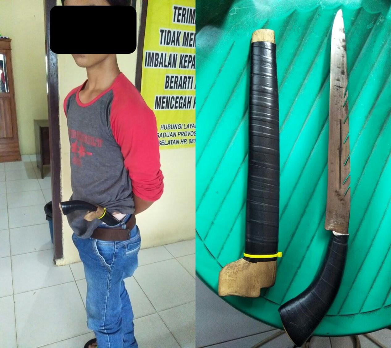 LAMPUNG POST | Memeras dengan Senjata Tajam, Pemuda Ini Ditangkap