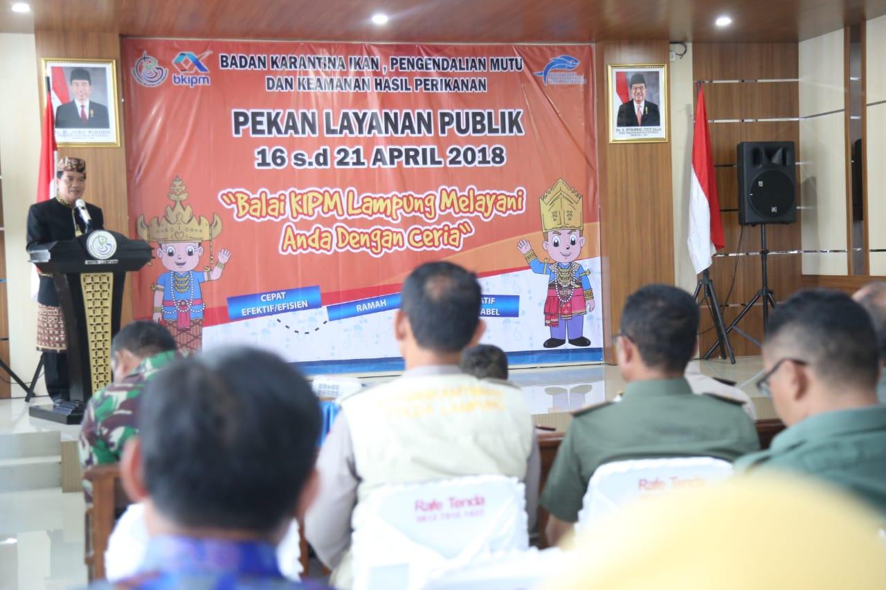 BKIPM Lampung Launching Pencanangan Layanan Publik