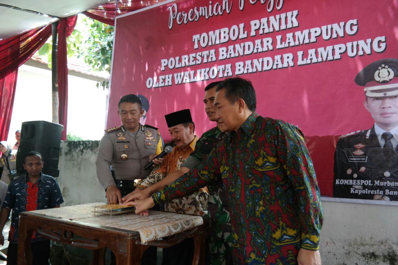 126 Tombol Panik Tersedia di Setiap Kelurahan di Bandar Lampung