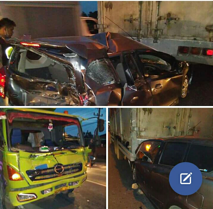 LAMPUNG POST   Kecelakaan Beruntun di By Pass Libatkan Tiga Kendaraan