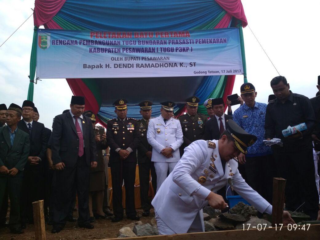 Pembangunan Tugu Pemekaran Kabupaten Pesawaran Dimulai