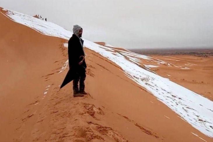 Gurun Sahara Diselimuti Salju untuk ketiga Kalinya dalam 40 tahun