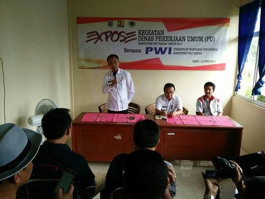 LAMPUNG POST | Pemerintah Sampaikan Hasil Pembangunan di PWI Way Kanan