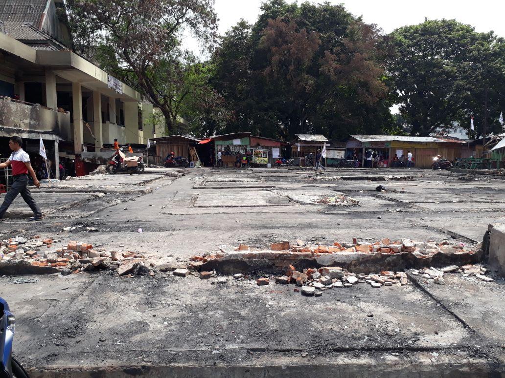 Setelah Dibersihkan Pedagang, Lokasi Pasar Penampungan Cendrawasih Metro Yang Terbakar Siap Dibangun Lagi