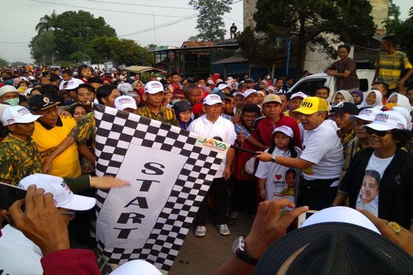 LAMPUNG POST   Lagi, Ribuan Warga Sukseskan Jalan Sehat Arinal di Lamteng