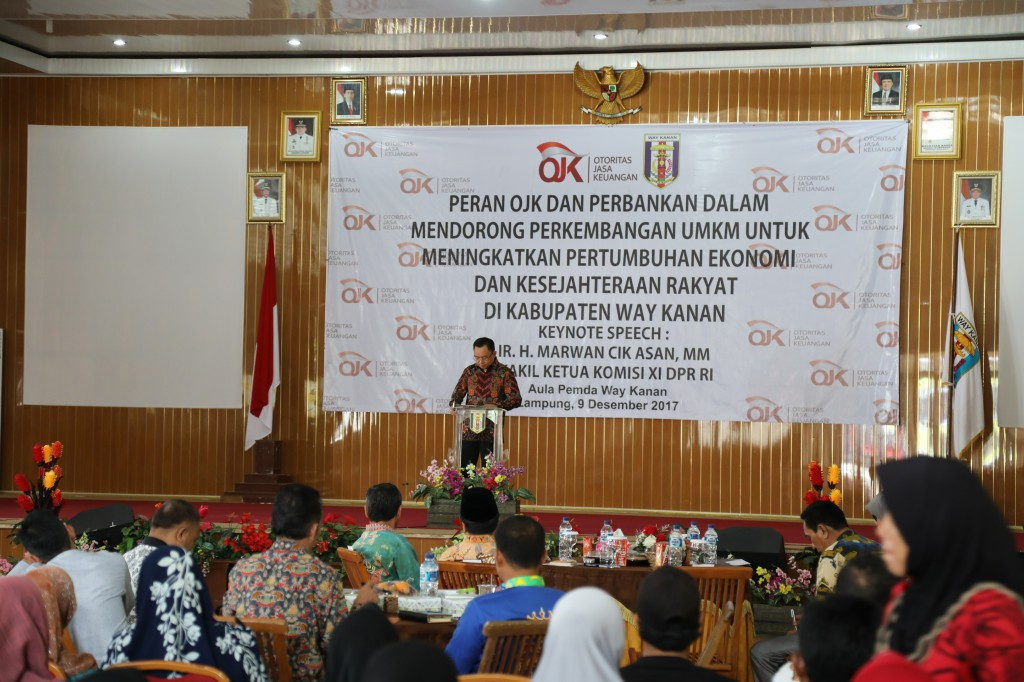 UMKM Way Kanan Ikuti Seminar dan Sosialisasi OJK