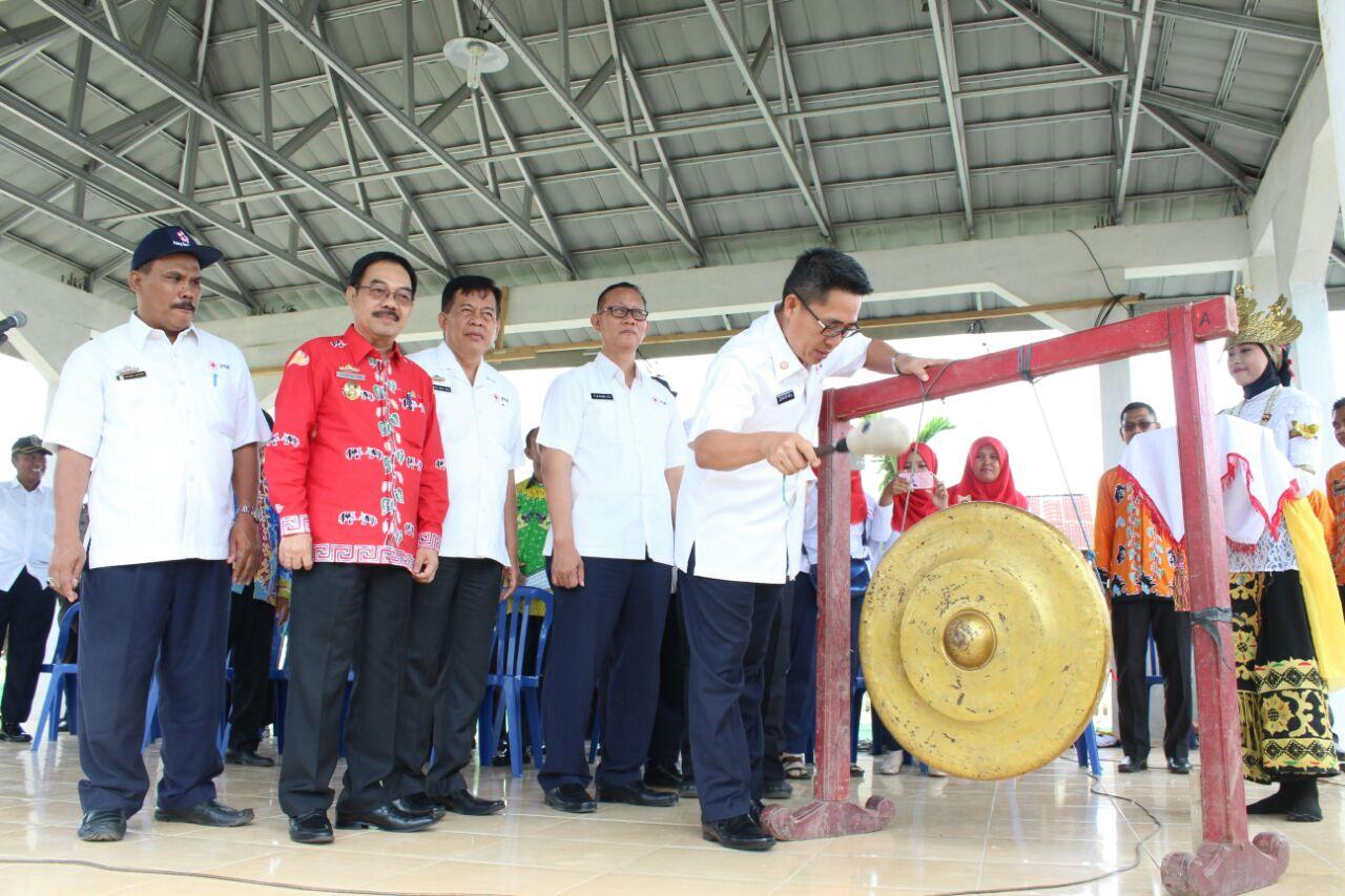 PMI dan PMR Lampung Timur Latihan Bersama