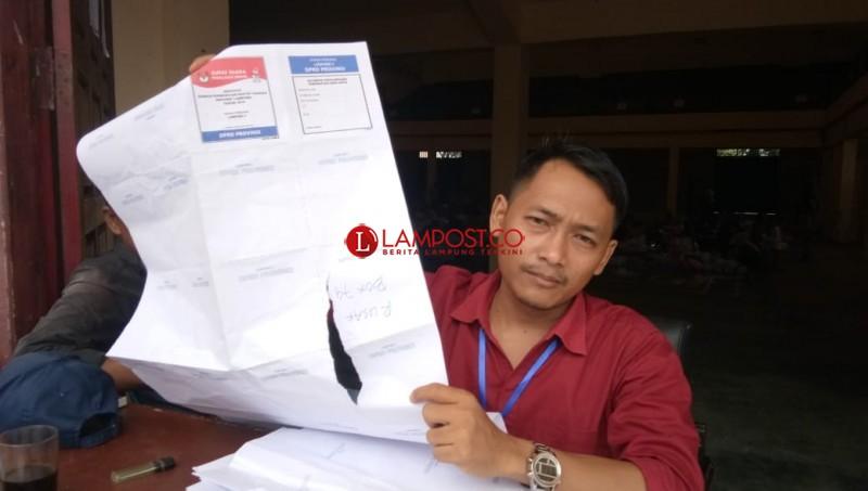 34.295 Surat Suara di Lampung Rusak