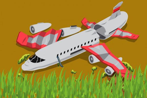 LAMPUNG POST | Pesawat Jet Rusia Jatuh, 71 Orang Tewas